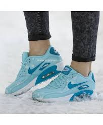 nike air max 90 premium leather blue womens shoes clearance 100 genuine