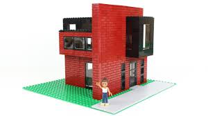 Lego House Plans Modern Lego Brick House Moc Youtube Idolza