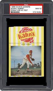 1966 Kahn's Wieners Sonny Siebert (Signature At Feet) | PSA CardFacts®