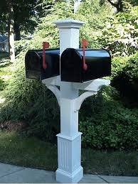 Triple Mailbox Post The Mailbox Post Mailbox Post Rural Mailbox Post