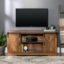 sliding barn door tv stand save this item to open gallery 4 images rustic oak farmhouse
