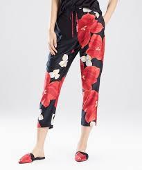Natori Size Chart Natori Black Floral Ginza Pajama Pants Women