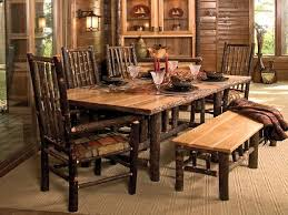 rustic dining room set gen4congress with regard to rustic dining room set