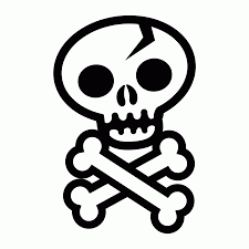 10 Pics Of Skull And Bones Coloring Pages Pirate Skull And