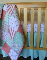 flamingo baby bedding c pink and mint flamingo crib quilt baby bedding set for quilt for