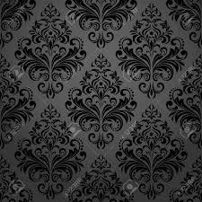 Baroque Design Wallpaper Floral Pattern Wallpaper Baroque Damask Seamless Vector Background