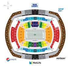 Metlife Stadium Seating Chart Concert Metlife Stadium Concert Seating Chart View Disclosed