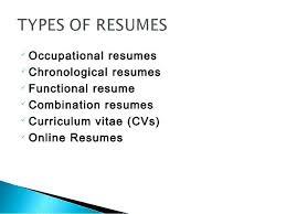 3 Types Of Resume Formats Chronological Three Thekindlecrew Com