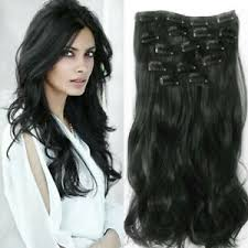 Détails Sur Extension De Cheveux A Clip Noir Wavy 7pcs Rajout Postiche Coiffure Mariage