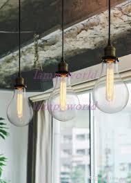 teardrop clear glass filament single pendant lamp hanging lighting water drop transpa vintage bulb loft bar suspension light mega bulb