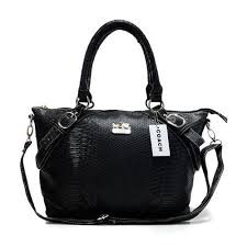 Coach Madison Embossed Medium Black Totes DEO