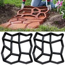 Paving Molds - Stone Road Concrete Molds <b>Diy Plastic Path</b> Maker ...