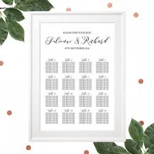Rehearsal Dinner Seating Chart Ideas Printable Wedding Seating Chart Rehearsal Dinner Seating