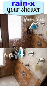 great tip use rain x on your shower glass