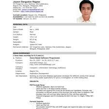 Resume Format Application Resume Templates Prepossessing Sample For Jobation Download Also