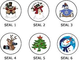 Christmas Seals - Christmas Envelope Seals and Stickers