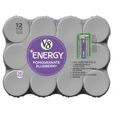 v8 energy juice drink with green tea pomegranate blueberry 8 oz can pack of 12 walmart