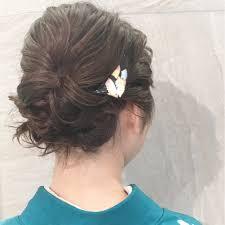 自分でokの簡単着物ヘアスタイルおしゃれ見せに挑戦hair