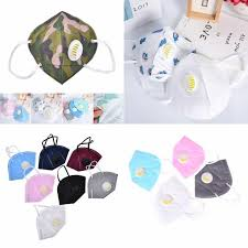 10 pcs folding nonwoven valved safety anti dust activated carbon charcoal particulate respirator face mask