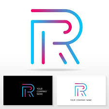 Membership Card Template Delectable Letter R Logo Design Vector Sign Stock Vector Business Card