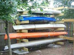 wood kayak rack canoe storage system building