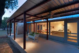 corrugated metal ceiling basement patio contemporary with covered patio covered patio corrugated metal siding