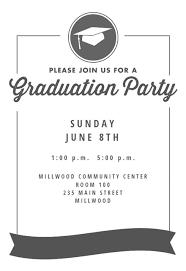 Ribbon Graduation Graduation Party Invitation Template