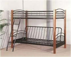 metal bunk bed. Brilliant Bed Twin  Futon Convertible Wood Metal Bunk Bed  Furnlander To
