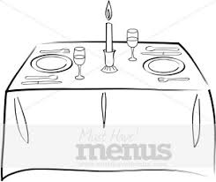 table clipart black and white. formal dining table clipart black and white