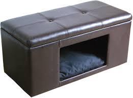hide away furniture. ottoman bench pet hideaway bed small dog cat hidden house kennel crate furniture hide away e