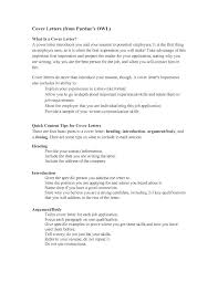Cover Letter For Resume Format Cover Letter For Resume Sample Resume ...