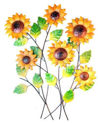 wall art metal wall art sunflower cluster bunch on sunflower wall art metal with wall art metal wall art sunflower cluster bunch amazon uk