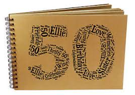 image is loading personalised 50th birthday photo al sbook guest book