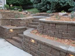 retaining wall ideas for sloped backyard
