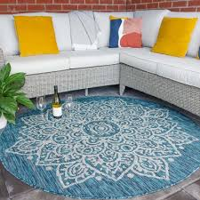 blue circle traditional damask indoor