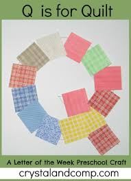 Letter of the Week: Q is for Quilt Craft & Letter of the Week Preschool Craft Adamdwight.com