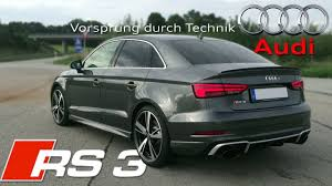 2018 Audi RS3 Sedan (400Hp) pure SOUND ✓ - YouTube