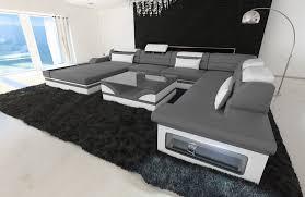 Luxury Design Sectional Sofa Orlando Xl Shape Led Lights