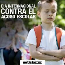 Resultado de imagen de dia internacional contra el acoso escolar
