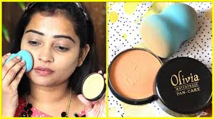 only olivia pan cake makeup on face no foundation no concealer how to use review