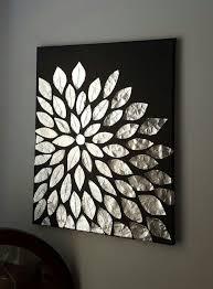 Diy Wall Art Blank Canvas Aluminum Foil And Mod Podge Diy Black Wall Art