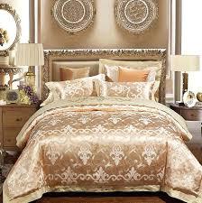 gold bed set luxury gold bedding sets duvet cover set jacquard bedspreads satin sheets wedding bed