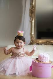 First Birthday Cake Smah Rose Gold And Pink Sparkle Princess Tutu