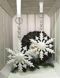 1x Fensterdeko 20x17cm Silberkugel Schneeflocken Kugel