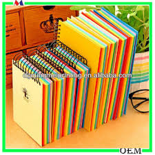 Rainbow Spiral A5 Notebook Spiral Notebook With Colored Paper Paper