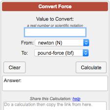 Force Conversion Calculator