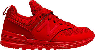 new balance shoes red. new balance. 574 sport preschool running shoe (red/red) balance shoes red