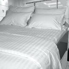 hotel bed poly striped sheets sheet single cotton flat black and white vertical