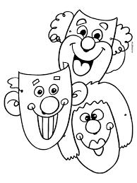 Kleurplaat Carnaval Koppen Maskers Kleurplatennl Doodle