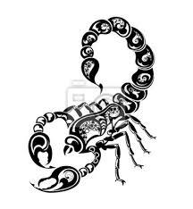 Obraz Znamení Zvěrokruhu štír Tetování Design